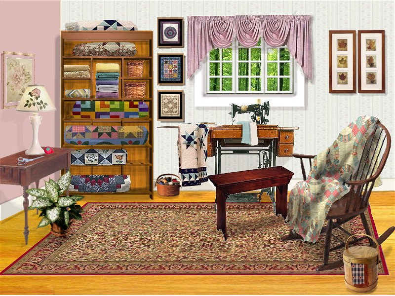 Sewing Room by L.K. Howard